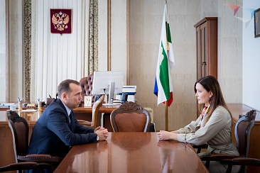 The meeting of the General Director of the Agency for strategic initiatives Svetlana Chupsheva with acting Governor of Kurgan region Vadim Shumkov