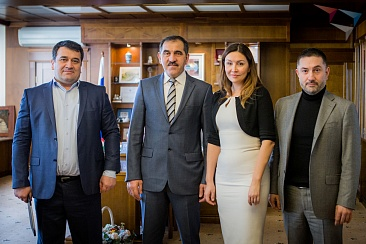 The meeting of the General Director of the Agency for strategic initiatives (ASI) Svetlana Chupsheva with the head of Ingushetia Yunus-Bek Yevkurov
